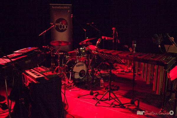 Marimba & vibraphone côtoient batterie et autres instruments d'Anne Paceo Circle. Festival JAZZ360. Cénac, 10 juin 2017