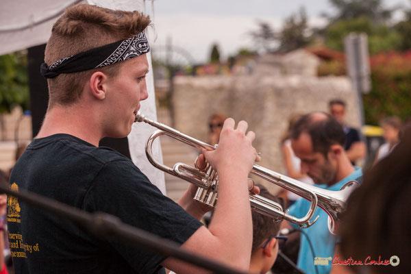 Solo de trompette. Big Band Jazz du Collège Eléonore de Provence, dirigée par Rémi Poymiro. Festival JAZZ360 2018, Cénac. 08/06/2018