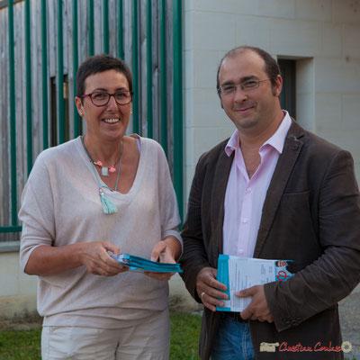 Nathalie Chollon-Dulong, Christophe Miqueu, candidats sur la 12ème circonscription de la Gironde. de 6h30/9h00, tractage auprès des personnels hospitaliers du C.H.S. et de l'U.M.D. de Cadillac. 01/06/2017
