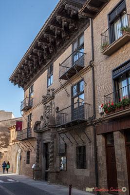 Palais d'Ongay-Vallesantoro (XVIIème siècle) / Palacio de Ongay-Vallesantoro (siglo XVII), calle Alfonso el Batallador o Mediavilla, Sangüesa, Navarra