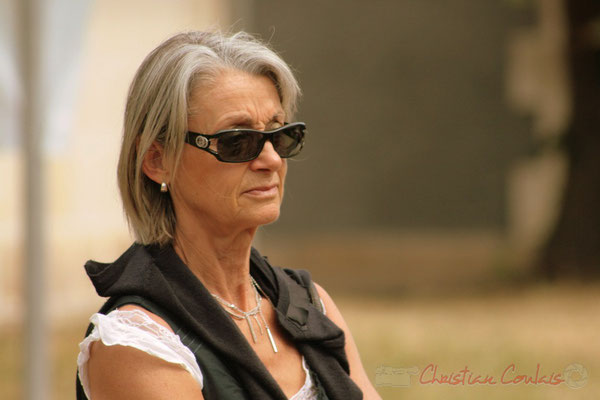 Simone Ferrer, Maire de Cénac. Randonnée Jazzy organisée par A.L.I.C.E., Citon-Cénac. 04/06/2011