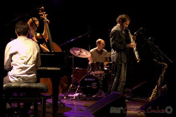 "Paul Lay, Nolwenn Leizour, Stefano Lucchini, Frédéric Borey; Frédéric Borey ""Lines"" Quartet, Festival JAZZ360 2012, Cénac. 08/06/2012"