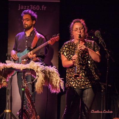 Pierre Terrisse, Carla Gaudré ; Høst. Festival JAZZ360, Cénac. Vendredi 4 juin 2021. Photographie © Christian Coulais