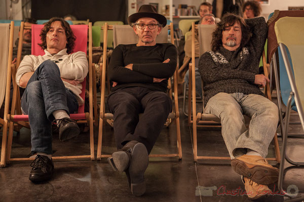 Jean-Luc Payssan, Philippe Cauvin, Thierry Payssan. Le Rocher de Palmer, 12/12/2015. Reproduction interdite - Tous droits réservés © Christian Coulais