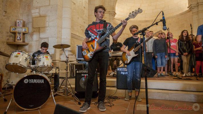Le Big Band Jazz du Collège de Monségur accompagne la Chorale jazz de l'école de Le Tourne, 10/06/2016
