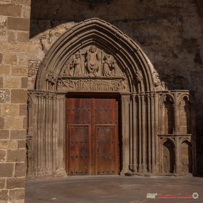 Porche. Iglesia de San Salvador, Sangüesa, Navarra