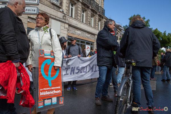 """""""INSOUMI"""" Manifestation du 1er mai 2017, avec la France Insoumise, cours d'Albret, Bordeaux"""