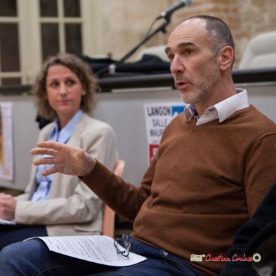 Loïc Prud'homme, Député de la Gironde. Comité d'appui de la France insoumise aux élections européennes. Langon, 14/02/2019