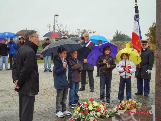 Hommages et commémoration de l'Armistice du 11 novembre 1918 à Cénac, ce mercredi 11 novembre 2009.
