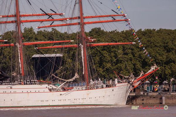 Navire de commerce allemand (1921), le Sedov est donné à la Russie en 1950 à titre de dommage de guerre et devient, un navire océanographique, puis navire école. Bordeaux, 22/06/2019 Reproduction interdite - Tous droits réservés © Christian Coulais