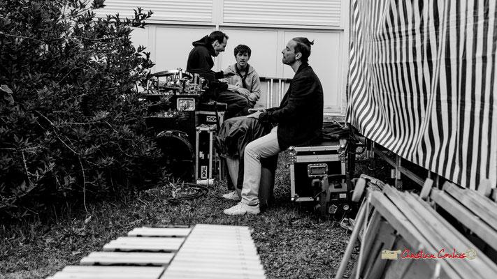 Juste avant le concert d'Adrien Brandéis Quintet, Philippe Ciminato répète... Festival JAZZ360 2019, 10ème anniversaire. Langoiran, 06/06/2019