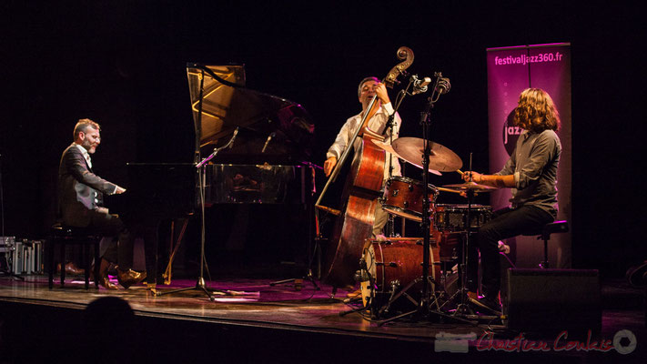 Trio Marcelle, Cédric Jeanneaud, Laurent Vanhée, Jéricho Ballan. Soirée Cabaret JAZZ360, Cénac, 05/11/2016