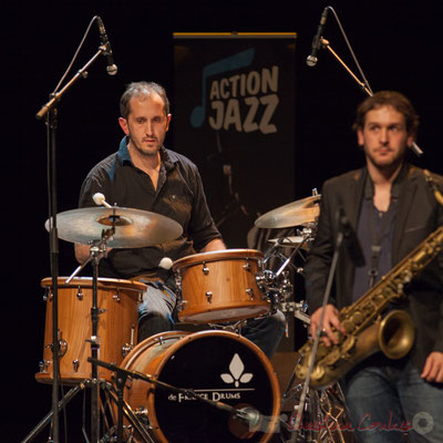 Lionel Ducasse, Paul Robert, quintet On Lee Way. Tremplin Action Jazz 2017. Le Rocher de Palmer, Cenon