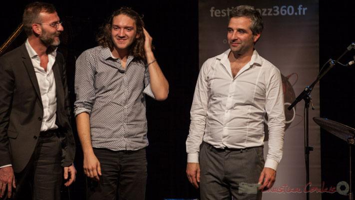 Trio Marcelle, Cédric Jeanneaud,  Jéricho Ballan, Laurent Vanhée. Soirée Cabaret JAZZ360, Cénac, 05/11/2016