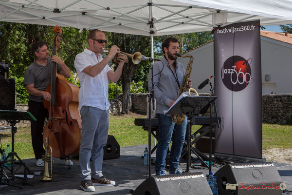 Jérôme Armandie, Jérôme Dubois, Paul Robert, Quintet On Lee Way, Festival JAZZ360, Quinsac, 11/06/2017