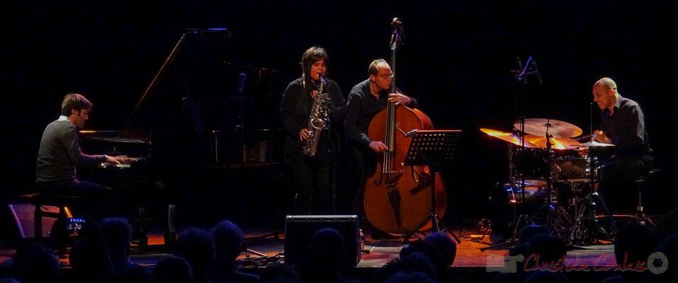 Paul Lay, Géraldine Laurent, Yoni Zelnick, Donald Kontomanou, Géraldine Laurent Quartet. Festival JAZZ360, Cénac, 11/06/2016