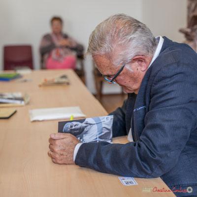 """Jean-Marie Darmian dédicace son livre """"Le jour où..."""", Créon. 14/10/2017"""