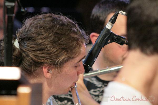 Flutiste, Big Band du Conservatoire Jacques Thibaud, section MMA. Festival JAZZ360, Cénac. 03/06/2011