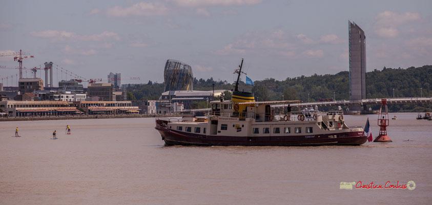 Le Marco Polo a été construit en 1960 en Suède; (33,5 mètres de long, 6,20 mètres de large); conçu pour la navigation de croisière en mer. Bordeaux fête le fleuve. 22/06/2019 Reproduction interdite - Tous droits réservés © Christian Coulais