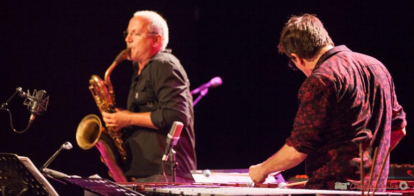 Franc Tortiller; François Corneloup / Franck Tortiller Duo. Festival JAZZ360, Cénac, 10 juin 2017