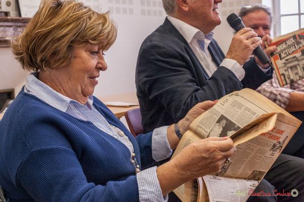 """Françoise Cartron, Sénatrice de Gironde. Sortie et dédicace du livre """"Le jour où..."""" de Jean-Marie Darmian, Créon. 14/10/2017"""