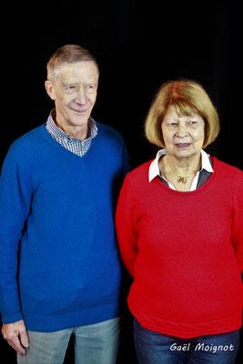 Michèle Pointet et Gérard Pointet photographiés par Gaël Moignot. Cénac, samedi 2 février 2019