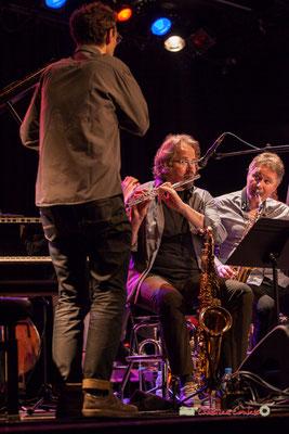 Pierre de Bethmann, Stéphane Guillaume, Sylvain Beuf; Medium Ensemble 3 de Pierre de Bethmann. Festival JAZZ360 2019, Cénac. 07/06/2019