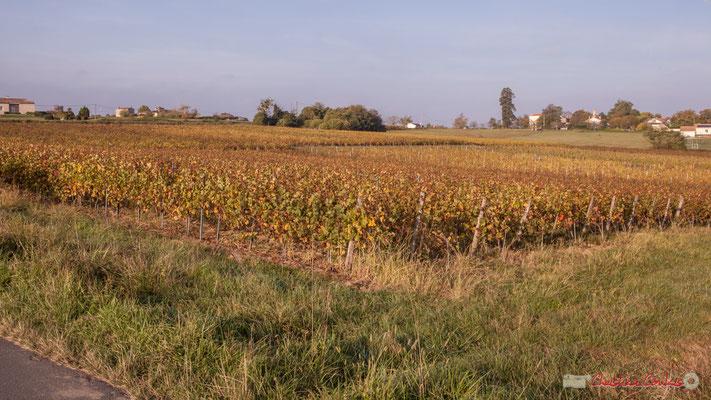 En direction des hameaux du Garde et de Montignac, avenue de Mons, Cénac, Gironde. 16/10/2017