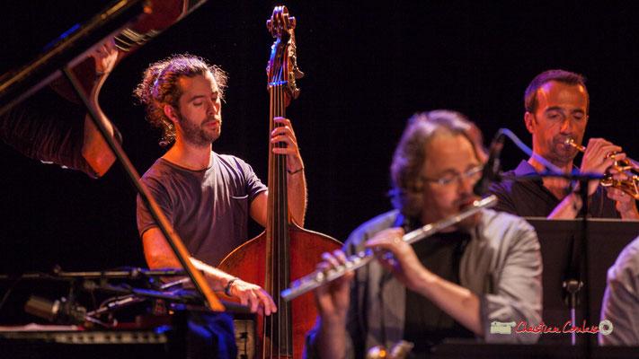 Simon Tailleu, Sylvain Gontard; Medium Ensemble 3 de Pierre de Bethmann. Festival JAZZ360 2019, Cénac. 07/06/2019
