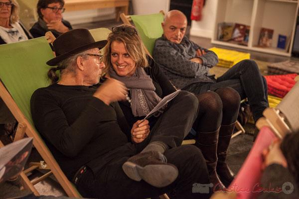 Philippe Cauvin, Sandra Pecastaingts. Le Rocher de Palmer, 12/12/2015. Reproduction interdite - Tous droits réservés © Christian Coulais