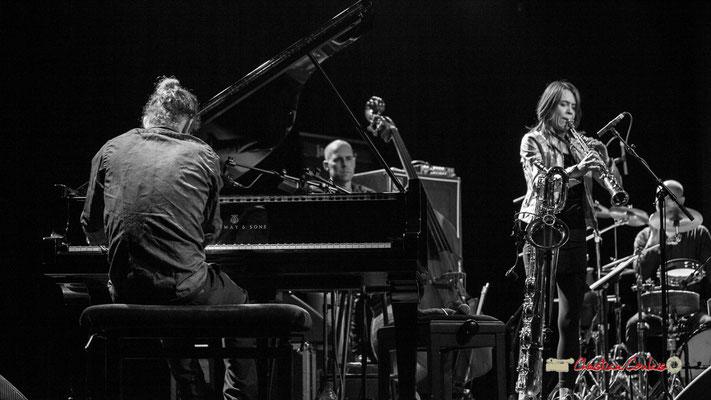 Leonardo Montana, Chris Jennings, Céline Bonacina; Céline Bonacina Crystal Quartet; Festival JAZZ360 2019. Cénac, 08/06/2019