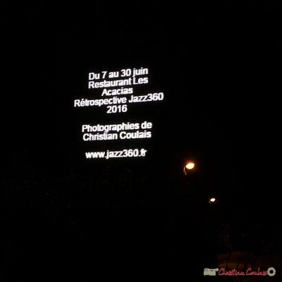 01h06 Autopromotion. l'heure de rentrer se reposer un peu...la journée de samedi s'annonce longue. Après-concert, Festival JAZZ360, 10 juin 2017