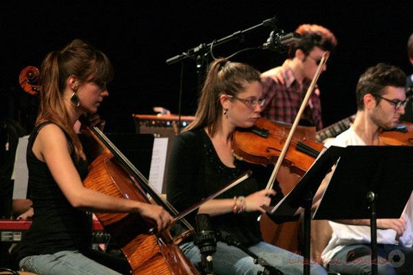 Violoncellistes, Big Band du Conservatoire Jacques Thibaud, section MMA. Festival JAZZ360, Cénac. 03/06/2011