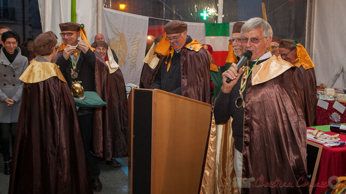 Maurice Roumage remercie la Confrérie de la Cagouille Créonnaise, la Mairie de Créon et tous les administrés qui lui font confiance