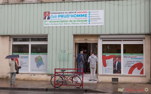 Permanence parlementaire de Loïc Prud'Homme et Tiphaine Maurin, 281, route de Toulouse, Villenanve d'Ornon 16/09/2017