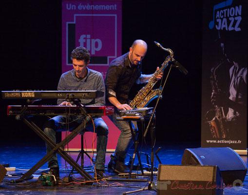 3 Stéphane Cazilhac, Edouard Lhoumeau du trio King Kong III. Tremplin Action Jazz 2017. Le Rocher de Palmer, Cenon