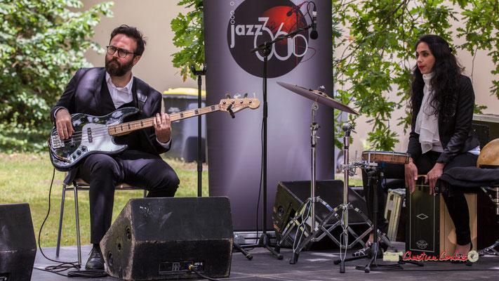 Julien Cridelause, Sabrina Romero; Nicolas Saez Quartet. Festival JAZZ360, Château Duplessy, Cénac. 10/06/2019