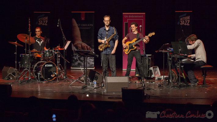 3 Gaétan Diaz, Julien Dubois, Ouriel Ellert, Simon Chivallon, quartet Le JarDin. Tremplin Action Jazz 2017. Le Rocher de Palmer