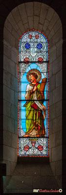 Vitrail sud Saint-André, don de Mr Largeteau, curé de Cénac, 1876. Eglise Saint-André, Cénac. 11/05/2018