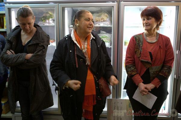 Martine Faure, Députée de la Gironde, Epicerie solidaire, l'Annexe de la Cabane, 38, rue Amaury de Craon à Créon. 13 mars 2015