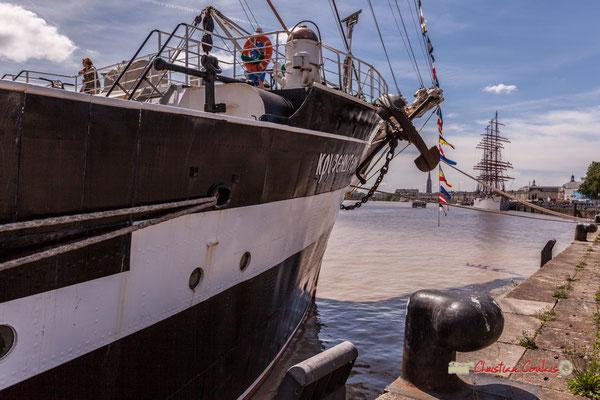 Krusenstern et Sedov sur les quais du port de la lune. Bordeaux fête le fleuve. 22/06/2019 Reproduction interdite - Tous droits réservés © Christian Coulais