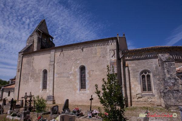 Façade sud de la nef et de l'abside. Eglise Saint-André, Cénac. 11/05/2018