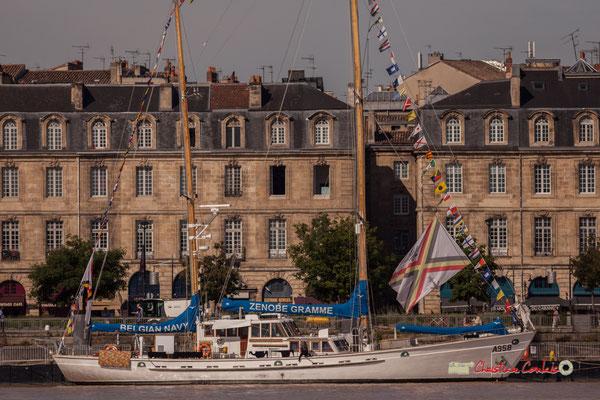 Le Zénobe Gramme A958, ketch bermudien construit en Belgique est actuellement le voilier-école à la Marine royale belge. Bordeaux, 22/06/2019 Reproduction interdite - Tous droits réservés © Christian Coulais
