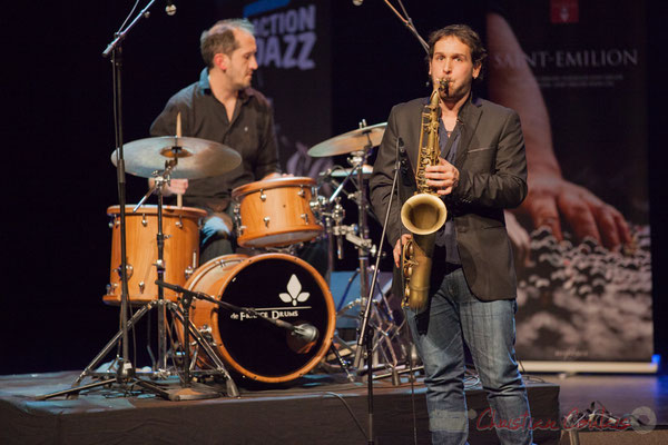 3 Lionel Ducasse, Paul Robert, quintet On Lee Way. Tremplin Action Jazz 2017. Le Rocher de Palmer, Cenon