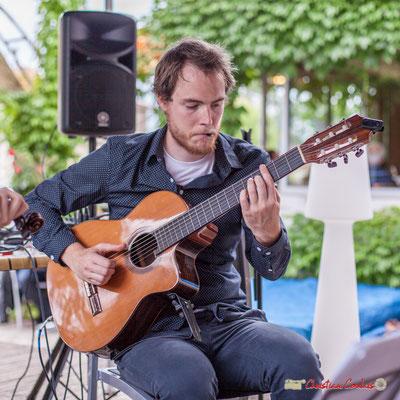 Nicolas Allard; Duo2 Source. Festival JAZZ360 2018, restaurant les Acacias, Cénac. 09/06/2018