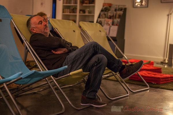 Patrick Duval, directeur de Musiques de nuit. Le Rocher de Palmer, 12/12/2015. Reproduction interdite - Tous droits réservés © Christian Coulais
