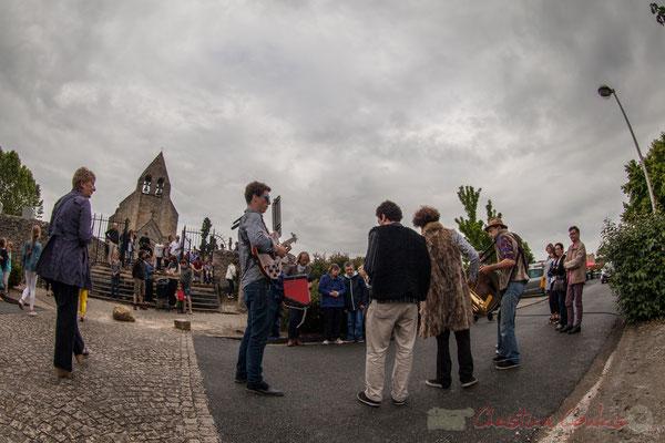 Fanfare afro-jazz Elephant Brass Machine, Festival Jazz360 2016, square des écoliers, Cénac, 10/06/2016