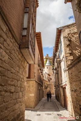 Calle Rúa Villavieja, Olite, Navarra