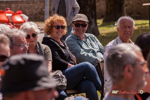 Annie et Jean-Paul Robert, bénévoles de l'association JAZZ360. Loïc Cavadore Trio, Festival JAZZ360 2019, Camblanes-et-Meynac. 08/06/2019