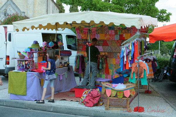 Boutique artisanale. Festival JAZZ360 2011, Les coulisses du Festival à Cénac. 03/06/2011